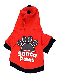cheap -Dog Shirt / T-Shirt Sweater Hoodie Animal Quotes & Sayings Casual / Daily Simple Style Dog Clothes Black Red Costume Cotton XS S M L
