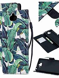 Недорогие -Кейс для Назначение Sony Sony Xperia 10 / Sony Xperia XZ3 / Xperia XZ2 Compact Кошелек / Бумажник для карт / Защита от удара Чехол дерево Кожа PU
