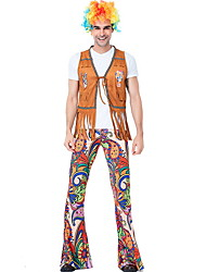 cheap -Hippie Costume Men's International Performance Theme Party Tassel Polyester