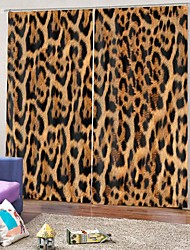 cheap -Leopard-print Household Decoration Blackout 100%Polyester Multi-purpose Curtain Soundproof Heat Insulation Fabric Curtain for Bedroom Living Room