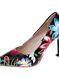cheap -Women's Heels Kitten Heel PU Casual Summer Black / White / Daily