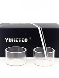 abordables -Tube de remplacement en verre Yuhetec pour Aspire Cleito 3.5ml 2pcs
