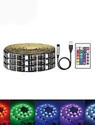 cheap -LOENDE 5m Light Sets 150 LEDs SMD5050 RGB USB / Party / Self-adhesive 5 V / USB Powered 1 set