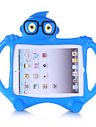 cheap -Case For Apple iPad 4/3/2 Child Safe Back Cover Solid Colored / 3D Cartoon EVA