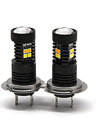 cheap -OTOLAMPARA 2PCS 16W 1400LM Dual Colors Spot Lightness H7 LED Bulbs