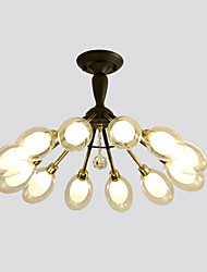 cheap -12 Bulbs ZHISHU 80 cm New Design Chandelier Metal Fabric Cluster / Empire / Bowl Electroplated Artistic / Chic & Modern 110-120V / 220-240V