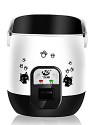 cheap -Electric Rice Cooker 1.6 L Single Portable Multi-function Durable Aluminum Alloy for 2 - 3 person Outdoor Camping / Hiking Traveling Picnic Black Pink