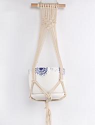 cheap -Macrame Plant Hanger Indoor Outdoor Hand Knit Hanging Suspend Planter Basket Net Cotton Rope