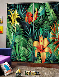 cheap -Modern Simple Design Curtain High Accurate Material Thickening Sunscreen Curtain Living Room and Bedroom Floral Curtain Fabric