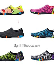 abordables -Chaussures d'Eau Cuir PVC Natation Snorkeling Sports aquatiques - Antidérapant pour Adultes