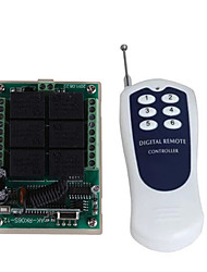 Недорогие -DC12V 6-канальный беспроводной пульт дистанционного управления переключатель / 10a реле приемник / код обучения 6 способ / мгновенный / тумблер / защелки может изменить 433 МГц