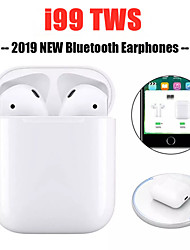 cheap -LITBest i99 Pop up TWS Wireless Bluetooth 5.0 Earphone Wireless cCharging Headset 3D Stereo Sport Earbuds for iPhone Xiaomi
