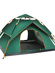 cheap -4 person Automatic Tent Outdoor Lightweight Rain Waterproof Ultraviolet Resistant Double Layered Camping Tent 2000-3000 mm for Camping / Hiking Outdoor Nylon Polyester Taffeta