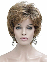 cheap -Synthetic Wig Tight Curl Layered Haircut Wig Blonde Short Light golden Synthetic Hair 6~8 inch Women's New Arrival Blonde