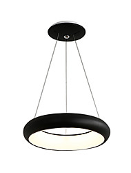 cheap -Circle Pendant Light Ambient Hanging Lights Round Pendant Lighting Fixture for Dining Table Kitchen Island Painted Finishes Metal Single Suspension Lights