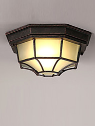 cheap -1-Light Corridor Living Room Flush Mount Lights Antique Country Style Indoor Ambient Light Ceiling Light Painted Finishes Metal Ceiling Light Fixtures