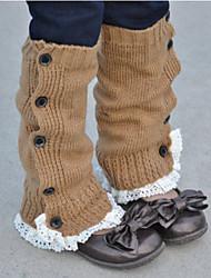 Недорогие -Дети Девочки Однотонный Белье / носки Темно-серый