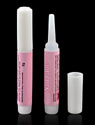 cheap -High Qua 10pcs Mini Beauty Nail Glue False Art Decorate Tips Acrylic Glue Nail Accessories 2g High Quality Nail Glue