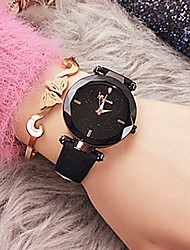 cheap -Women's Dress Watch Quartz Leather Water Resistant / Waterproof Analog Classic - Black Brown Purple / Stainless Steel