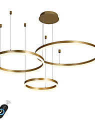 cheap -1-Light LED 90W Circle Chandelier/ LED Modern Pendant Lights For Living Room Coffee Bar Show Room/ Big Size/ Warm White / White / Dimmable With Remote Control / WIFI Smart via Voice Control