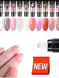 cheap -20g Nail Acrylic Poly Gel Pink White Clear Crystal UV LED Builder Gel Tips Enhancement Slip Solution Quick Extension Gel