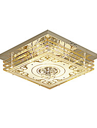cheap -1-Light Modern Luxury Crystal Ceiling Light Fixture Simpel Square-Shaped LED Ceiling Light Flush Mount for Living Room Bedroom