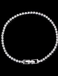 abordables -Bracelets Tennis Rivière de Diamants Bracelet Femme Classique Imitation Diamant Princesse simple Luxe Classique Mode Elégant Bracelet Bijoux Argent pour Mariage Soirée Fiançailles Cadeau Quotidien