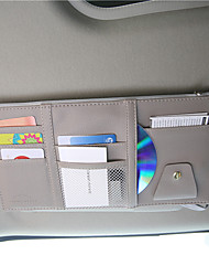 cheap -Car Organizers CD Case / Card Holder / Glasses Clips PU Leather / Nylon For universal All years