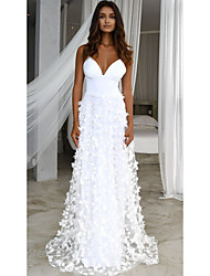 cheap -Women's A Line Dress - Solid Colored Lace White M L XL