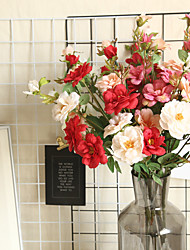 cheap -Rose Rose Flower Chinese-style Artificial Flower Home Decoration Wedding Hand Bouquet Wall Flower 1 Branch 5 Heads