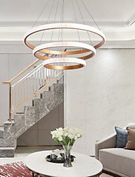 cheap -LED® 3-Light Circle Geometrical Chandelier Ambient Light Painted Finishes Aluminum LED  Cool 110-120V 220-240V Warm White Cold White