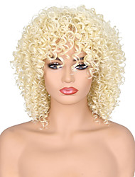 cheap -Synthetic Wig Curly Afro Curly Scarlett Pixie Cut Wig Blonde Burgundy Medium Length Blonde Red Synthetic Hair 14 inch Women's Adjustable Heat Resistant Classic Blonde Burgundy