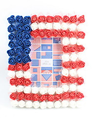 cheap -2019 New Fashion Plastic / PE Lace Flower / Glasses 4X6 Inches Frames Pure Hand-made Modern Style Desktop Flag of the US Decoration Frame