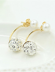cheap -Women's Drop Earrings Classic Ball Sweet Fashion Imitation Pearl Earrings Jewelry Gold For Daily Work 1 Pair