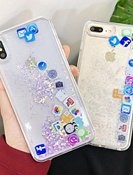 cheap -Case For Apple iPhone XS / iPhone XR / iPhone XS Max Flowing Liquid / Glitter Shine Back Cover Glitter Shine Hard Acrylic