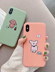 cheap -Case For Apple iPhone XS / iPhone XR / iPhone XS Max Dustproof / Pattern Back Cover Dog / Cartoon TPU