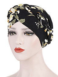 cheap -Women's Basic Polyester Floppy Hat-Solid Colored Floral All Seasons Black White Blushing Pink