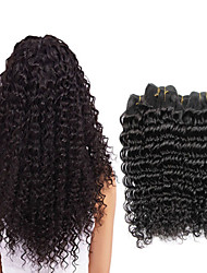 cheap -4 Bundles Brazilian Hair Deep Wave Virgin Human Hair Remy Human Hair Headpiece Natural Color Hair Weaves / Hair Bulk Extension 8-28 inch Natural Color Human Hair Weaves Odor Free Classic Easy dressing