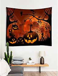 cheap -Halloween Wall Decor 100% Polyester Modern / New Year's Wall Art, Wall Tapestries Decoration