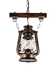 cheap -1-Light Industrial Pendant Light Ambient Light Chandelier Lights Antique Pendant Lighting for Halway Living Room Painted Finishes Metal Light Fixture