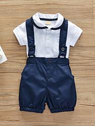 cheap -Baby Boys' Casual / Active Print Print Short Sleeve Regular Clothing Set White