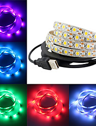 cheap -SMD 5050 RGB LED Strip Waterproof 2M 60 LED DC 12V Fita LED Light Strips TV Ambry Light