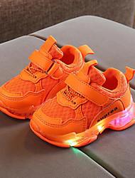 abordables -Garçon LED / Confort / LED Chaussures Polyuréthane Chaussures d'Athlétisme Petits enfants (4-7 ans) Marche LED Orange / Jaune / Vert Printemps / Eté / Gomme