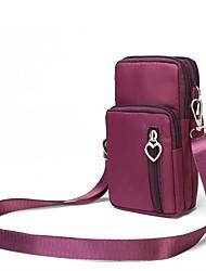 abordables -Femme Fermeture Tissu Oxford Mobile Bag Phone Couleur unie Noir / Violet / Fuchsia / Automne hiver