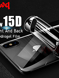 cheap -15d full cover front or back hydrogel film for iphone x 7 8 plus soft screen protector for iphone xs max xr (not tempered glass)