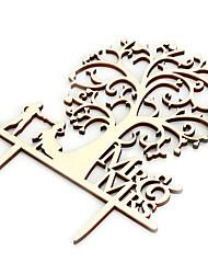 abordables -Yiwu ho1070eo8yaz mariage fournitures mr & mrs mariée marié mariage en bois bouchon de gâteau (note de commande: emballage de tube gonflable unique) 14 * 16.8