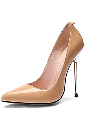 cheap -Women's Heels Sexy Shoes Stiletto Heel Pointed Toe Patent Leather Classic Spring &  Fall Black / Almond / Wedding / Party & Evening