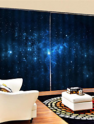 cheap -3D Print Privacy Two Panels Custom Polyester Curtain For Study Room / Office / Living Room Decorative Waterproof Dust-proof High-quality Curtains