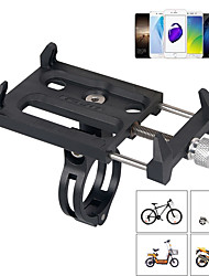 cheap -Bike Phone Mount Adjustable / Retractable Anti-Slip Phone Holder for Road Bike Mountain Bike MTB Motorcycle Aluminium Alloy PP iPhone X iPhone XS iPhone XR Cycling Bicycle Black