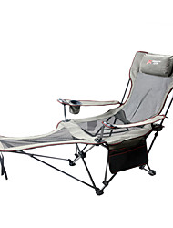 cheap -Camping Chair with Cup Holder Portable Anti-Slip Foldable Comfortable Steel Tube Oxford for 1 person Camping Camping / Hiking / Caving Traveling Picnic Autumn / Fall Spring Blue Grey Khaki